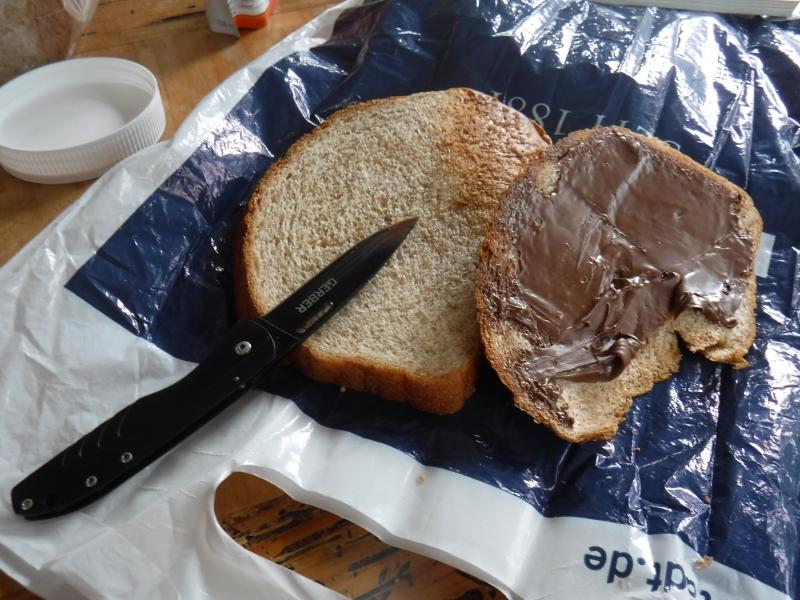 Nutella bread dinner!