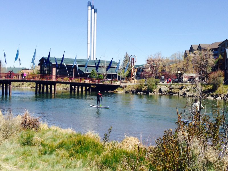 Old Mill district in Bend