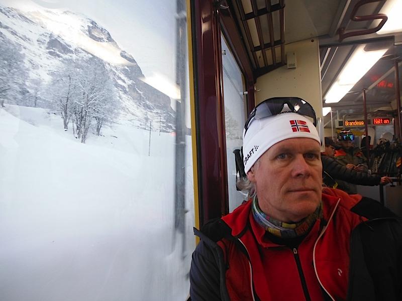 Train to Kleine Scheidegg