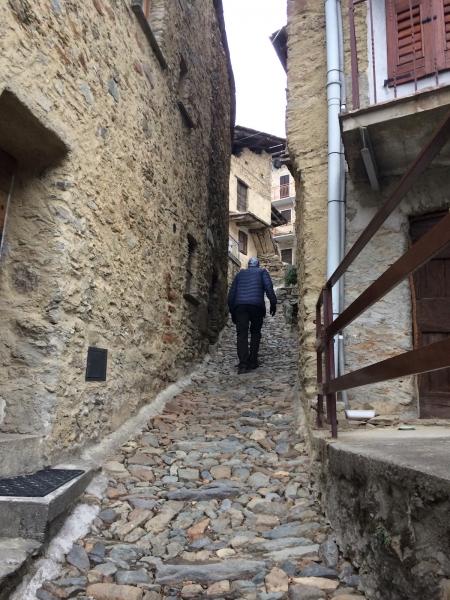 Steep hiking in Tirano