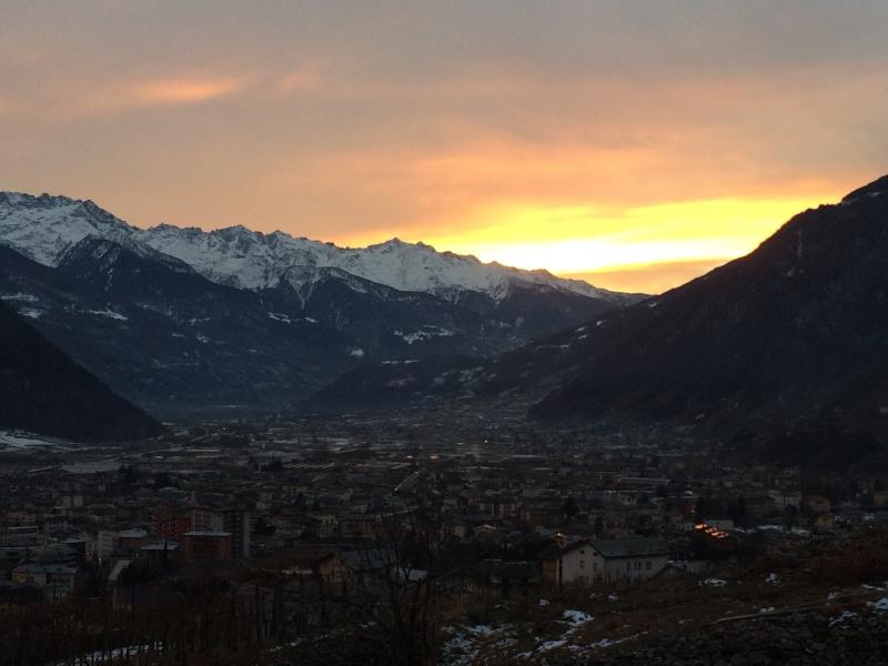 Evening light in Tirano