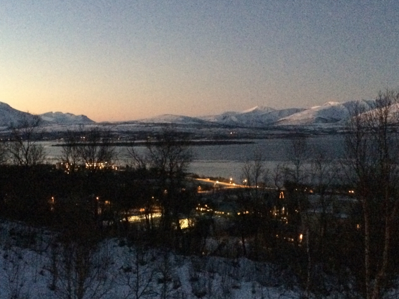 View from Stine's house - Tromso