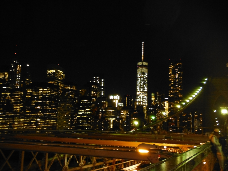 Brooklyn Bridge at night NYC