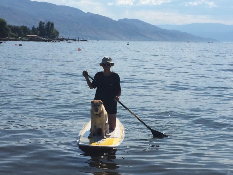 SUP on Okanagan Lake