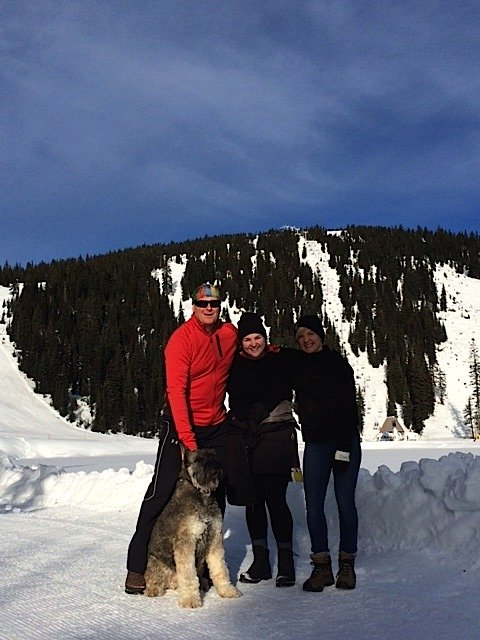 Dougie and family at Big White