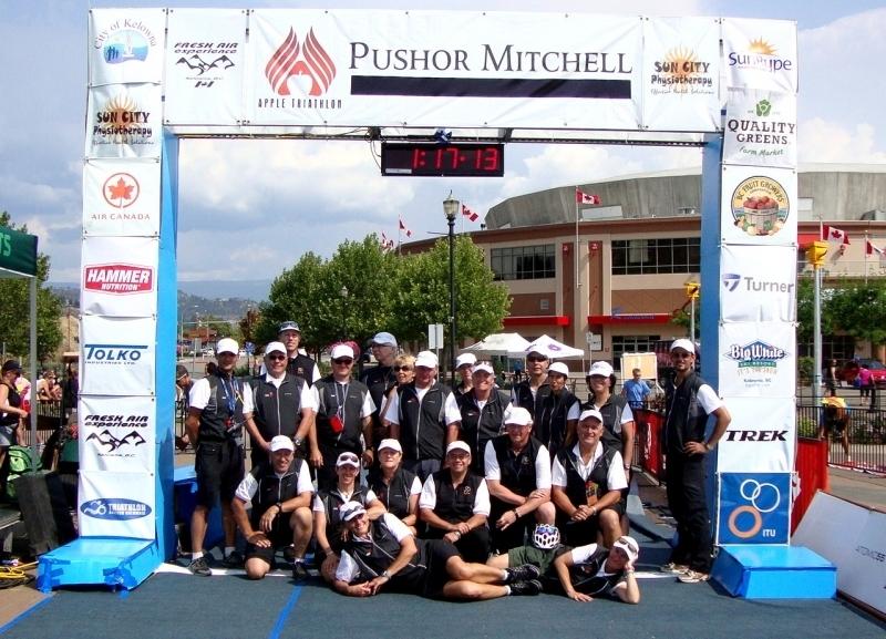 Officials at the Apple Triathlon