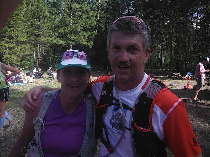 Chris and Ellen at Sun Mountain 50km