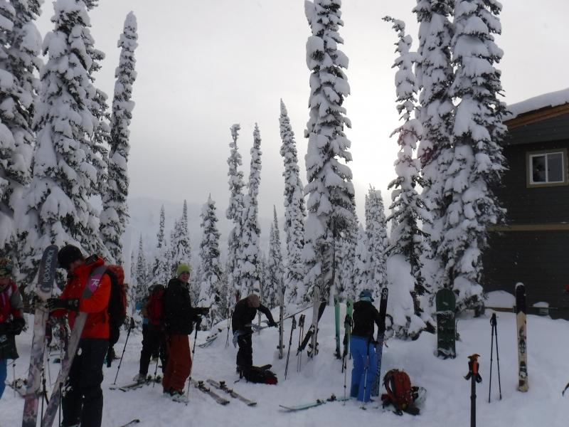Getting ready Sol Mountain Lodge Dec 2016