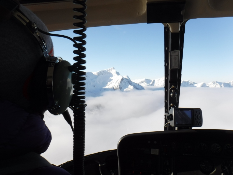 Helicopter Sol Mountain Lodge Dec 2016