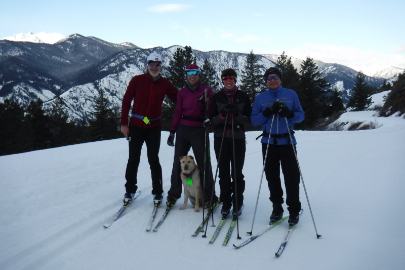 Winthrop ski with Frances and Keith