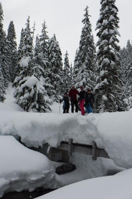 Snowshoe around Wheeler Hut