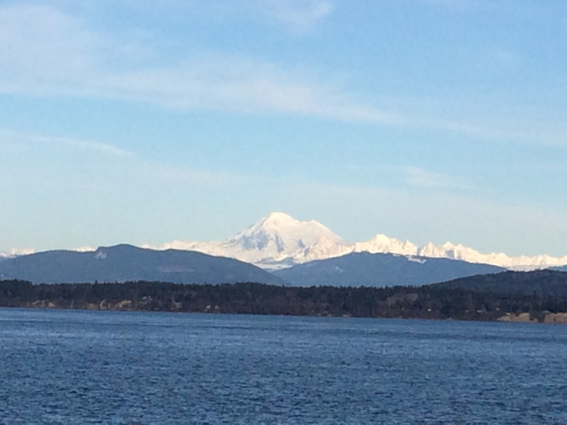 View from ferry to Orcas Island
