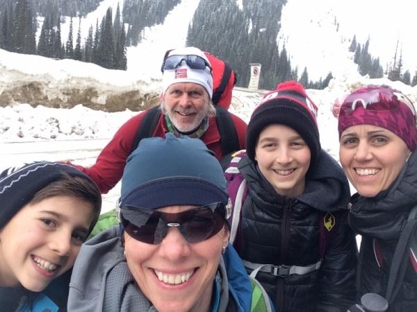 Start of hike to Wheeler Hut