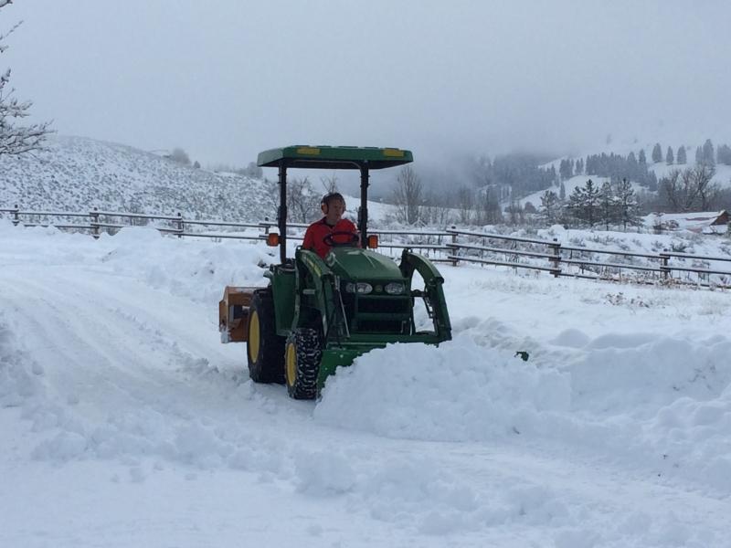 Snow work in Winthrop