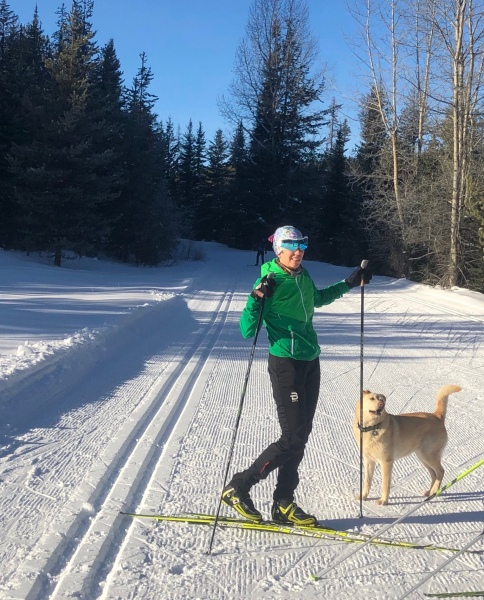 Sunny xc ski
