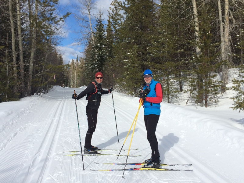 XC ski with JF