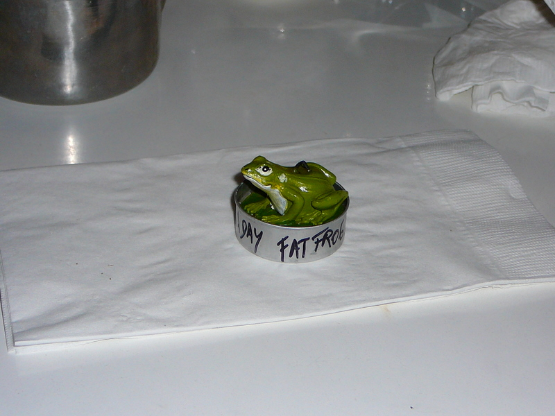 Fat Frog candle