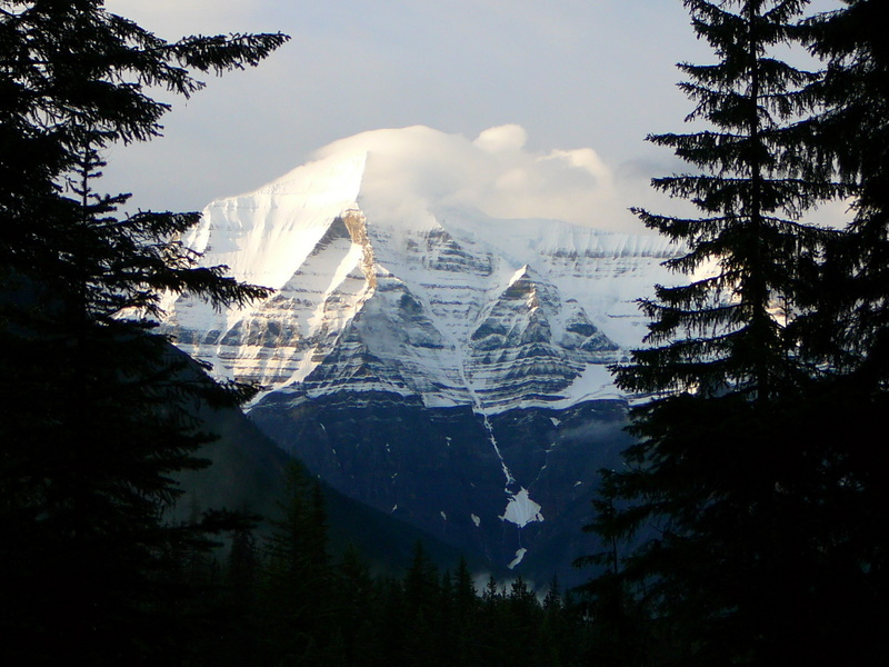 Mt Robson from the lodge