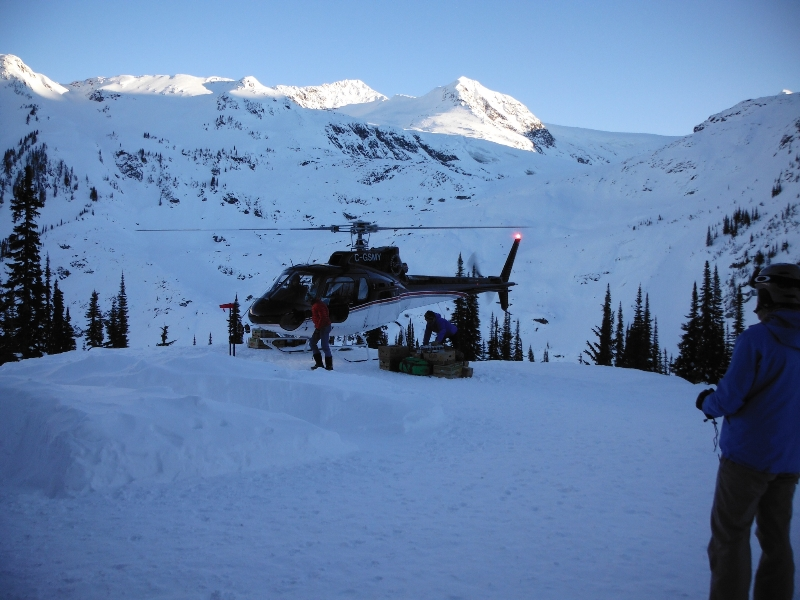 Landing at the chalet