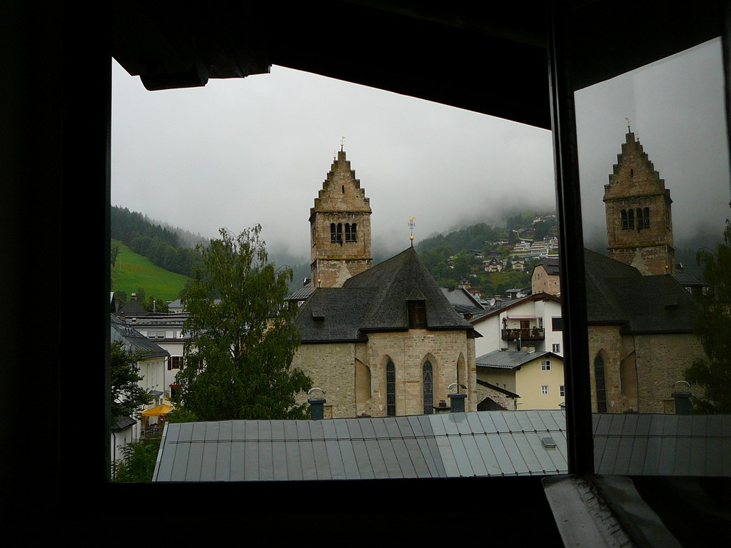 View from our hotel room in Austria