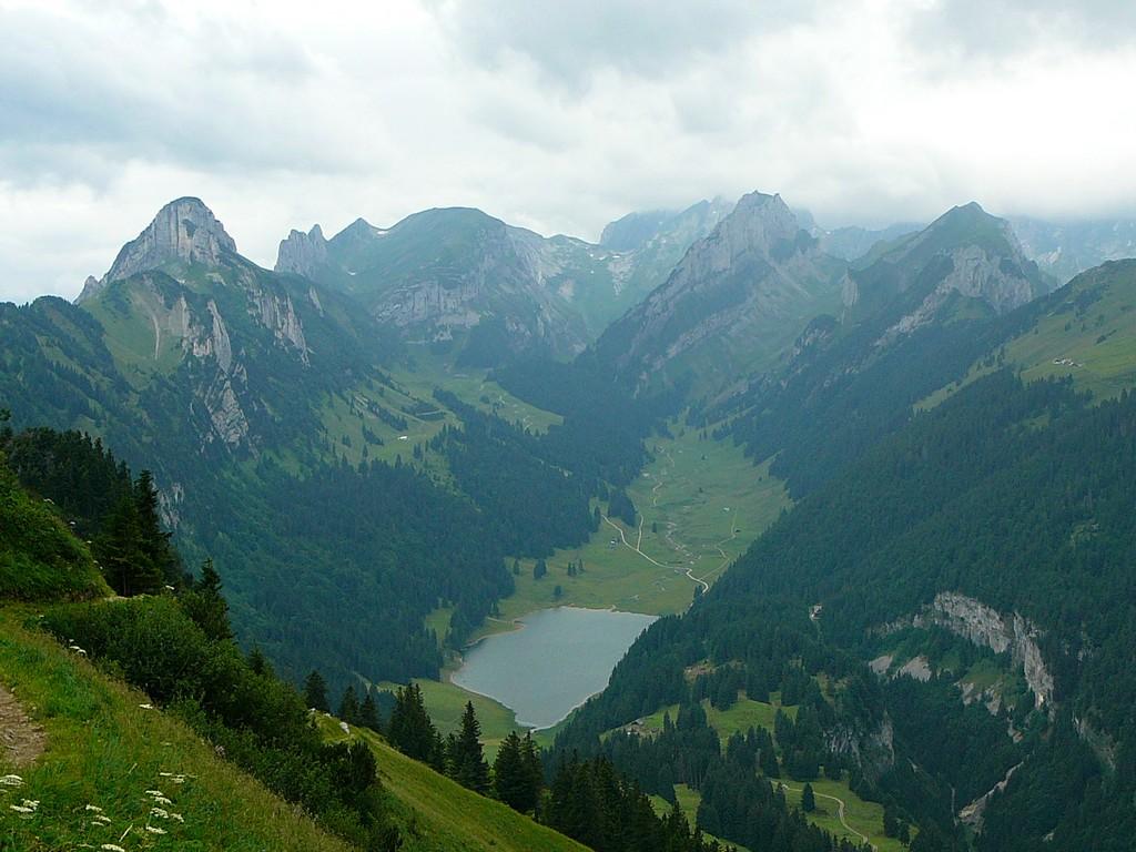 View from Hoher Kasten, Switzerland