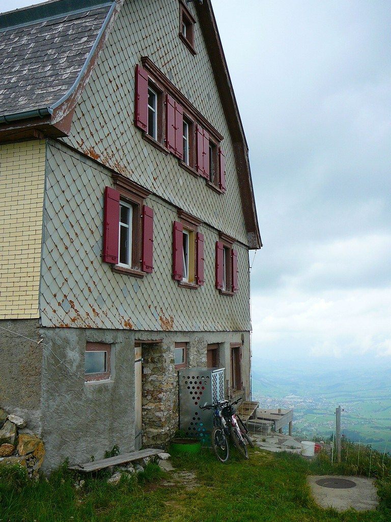 Old hostel on top of Hoher Kasten