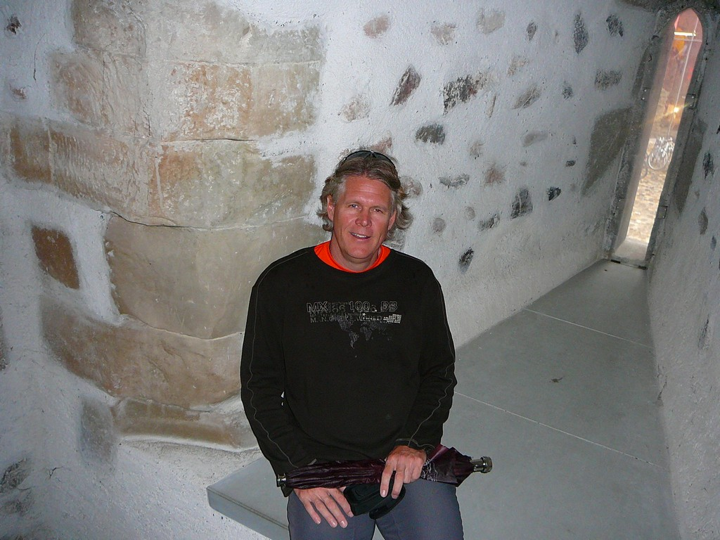 In the cathedral tower