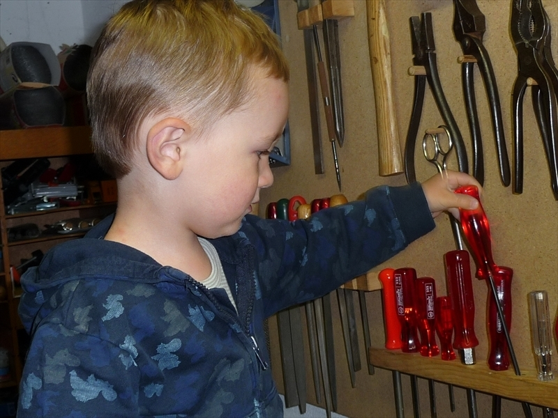 Arne with his tools