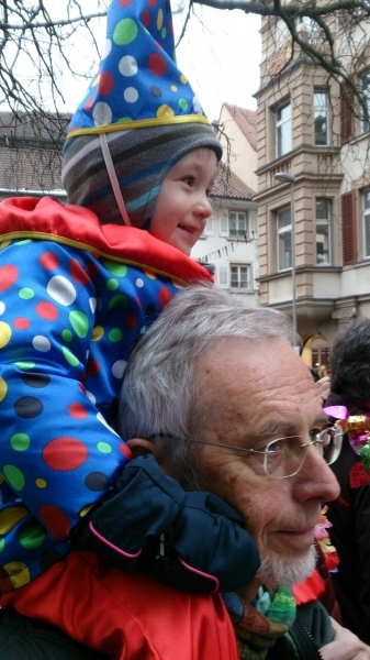 Fasnacht 2015 Arne with dad