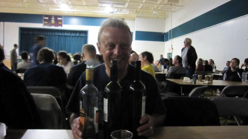 Geoff at dinner in Golden