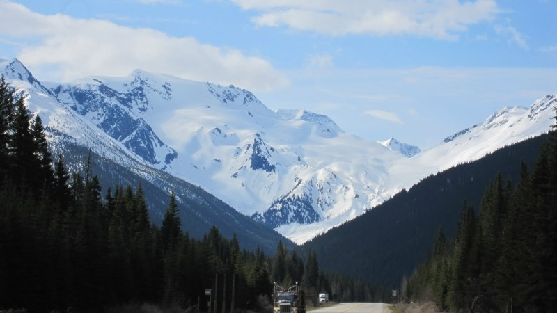 Near Rogers Pass on the drive back