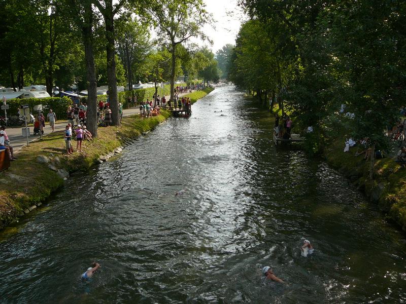 Swim canal getting quiet