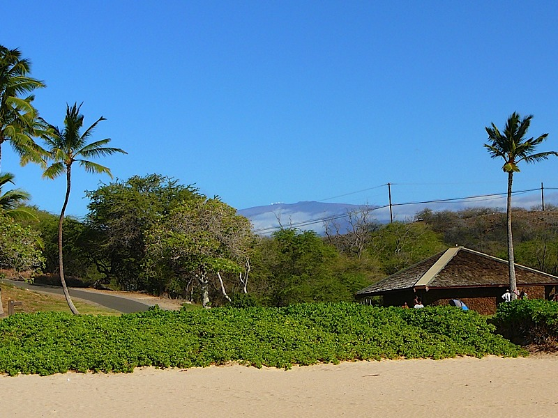 Hapuna Bay with Mauna Kea in the background