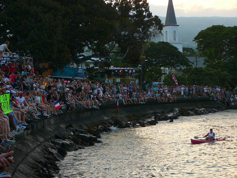 Crowds on the seawall