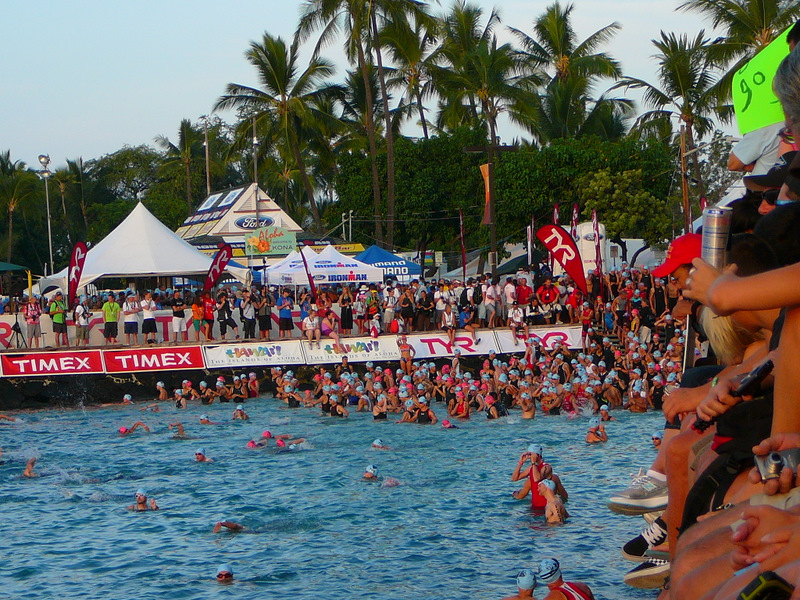 Age Groupers getting into the water