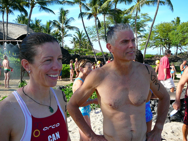 Finish of the 2011 Kukio Blue Water Swim