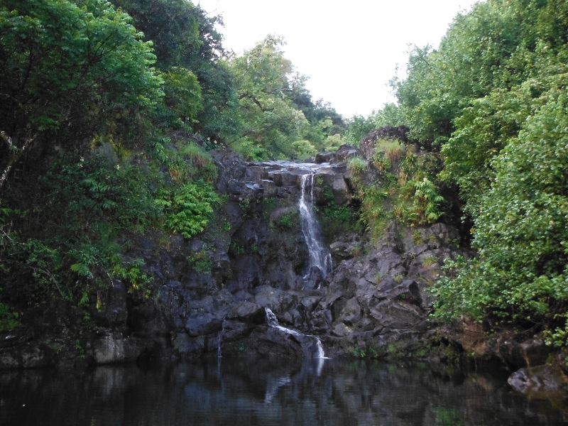 The second of the four falls of Na'ili'ili'haele