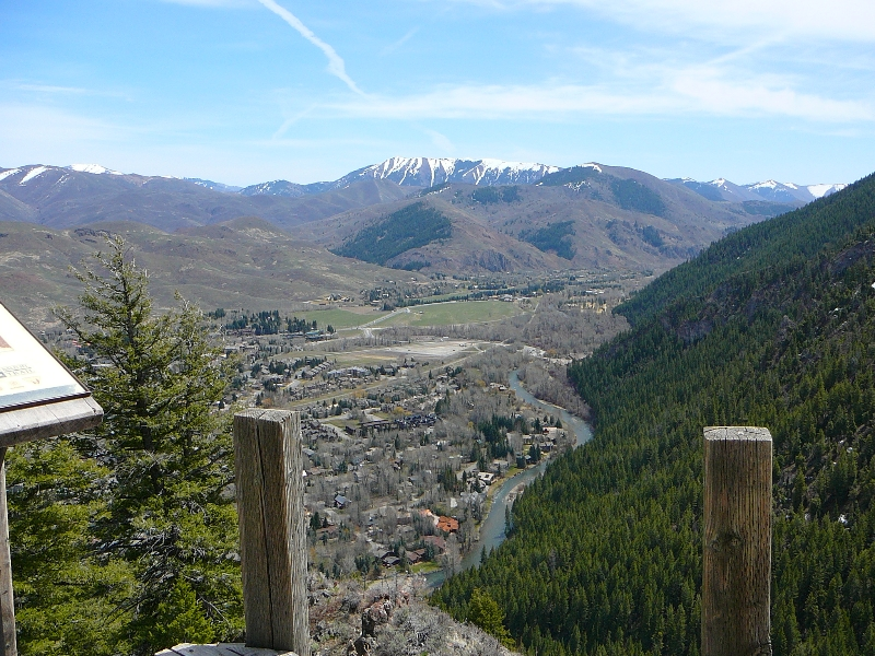 Lookout over Ketchum on Bald Mountain trail