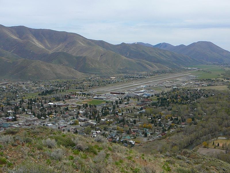 View towards Ketchum from Carbonate Mountain ID