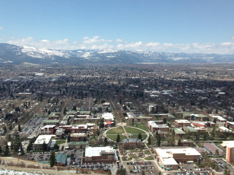 University of Montana from above