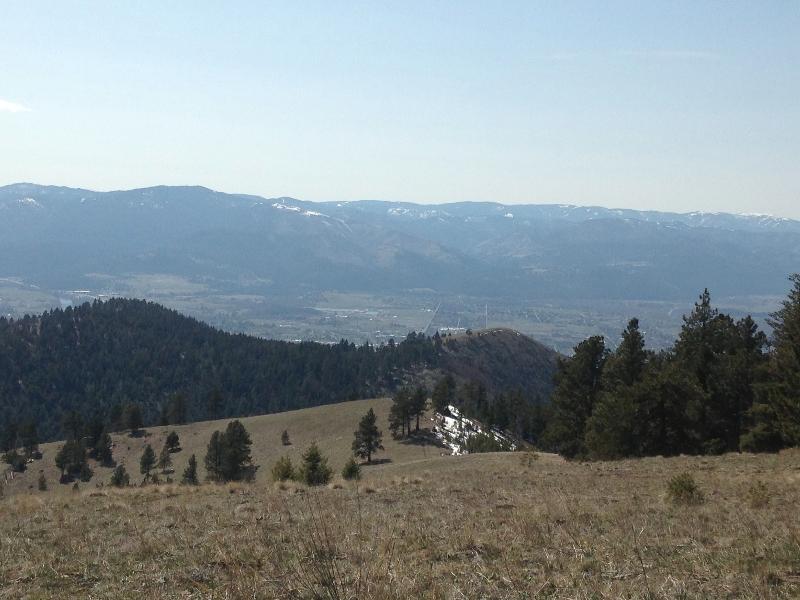 View from University Mountain Missoula MT
