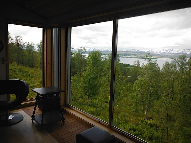 View from their living room in Tromso