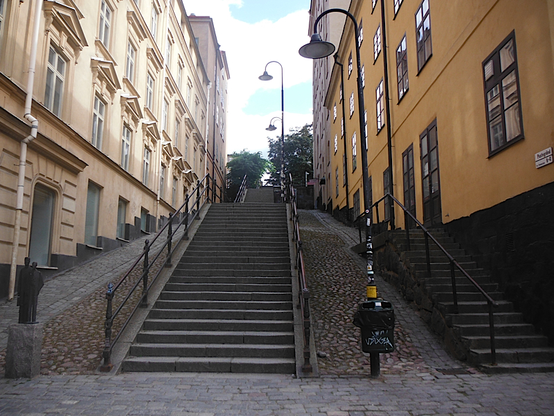 Funny streets in Stockholm