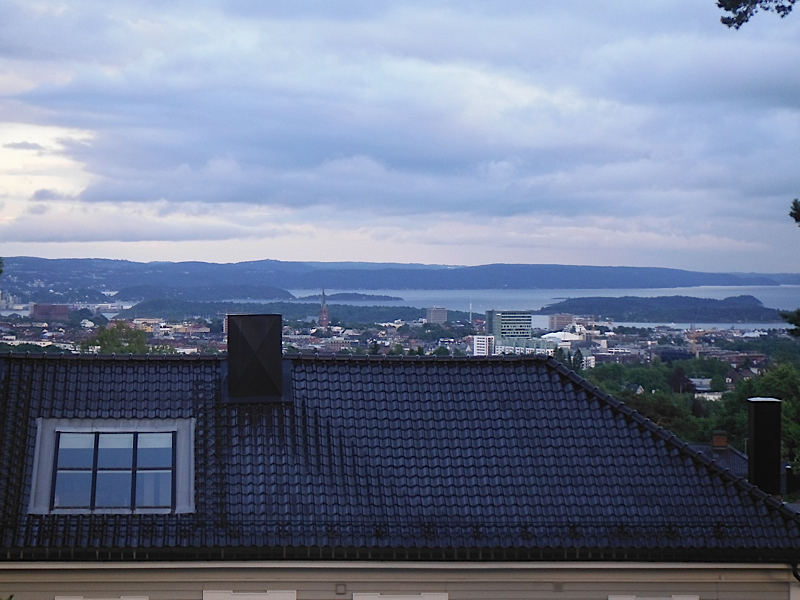 View of Oslo from Sissel's place