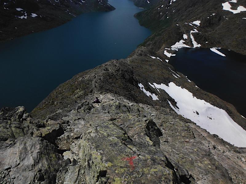 Steep ridge!