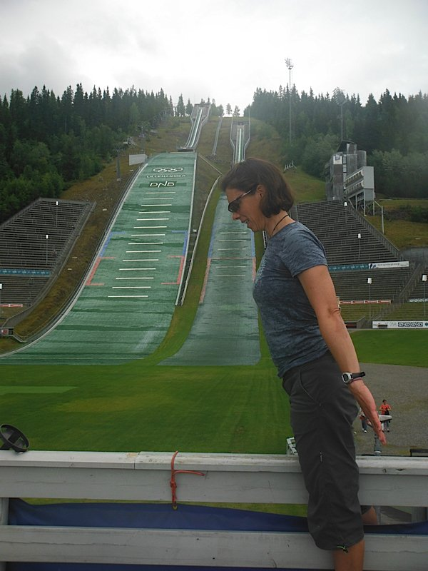 Trying the Lillehammer Olympic jump!