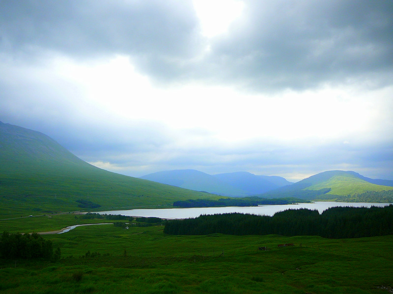 Drive to the West Coast - near Loch Tulla