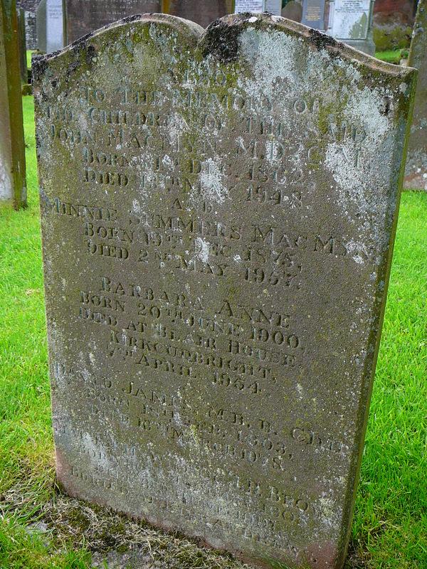 McMyn grave stone