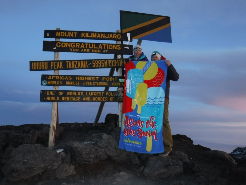The ATLS towel also made it to the top of Africa