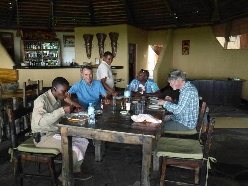 Lunch at Sangaiwe Lodge